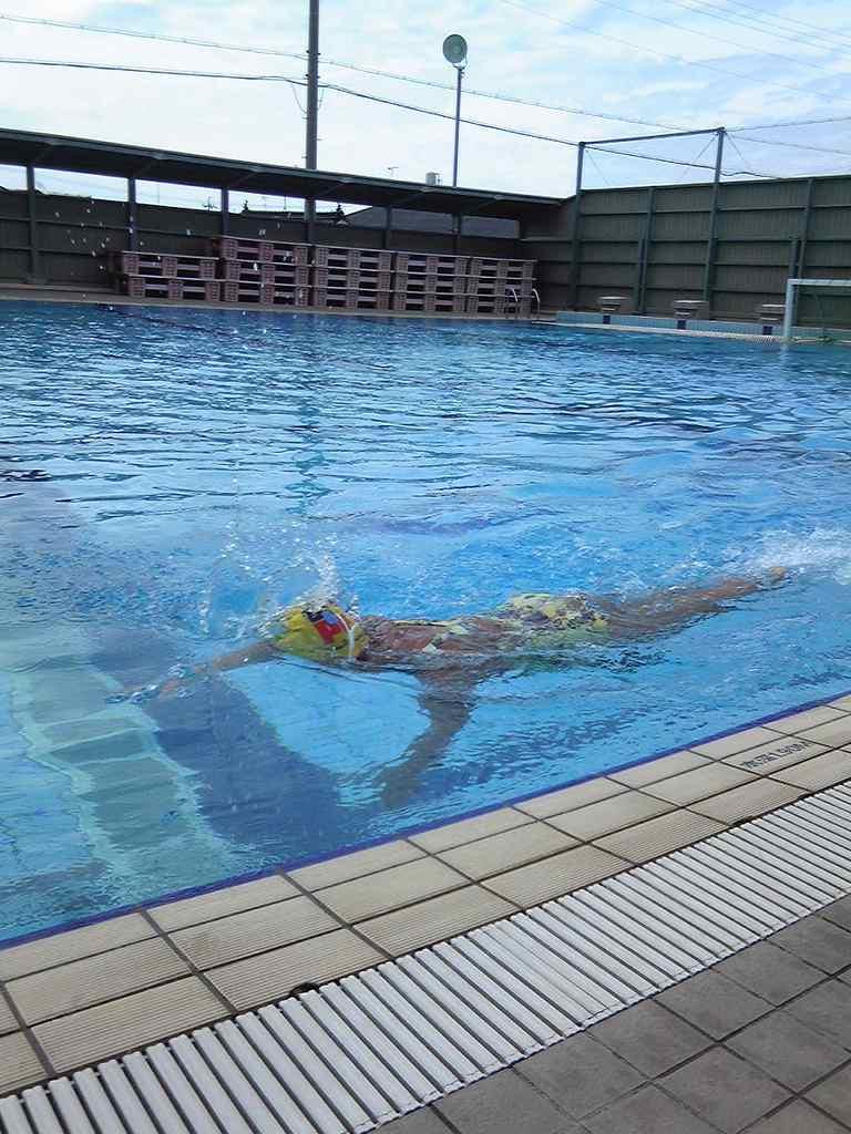 城西高校のプール練習