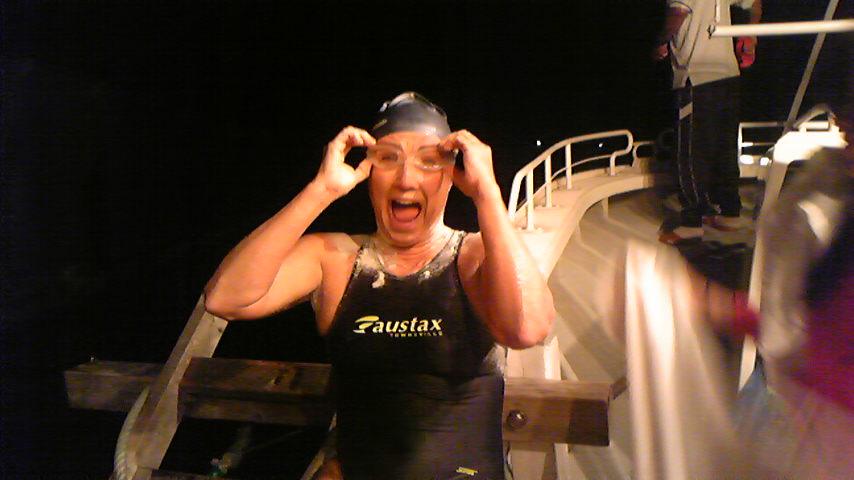 ペニー、完泳!